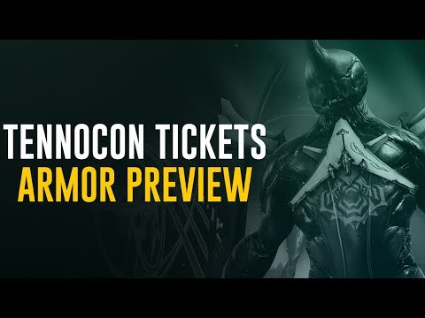 Tennocon Physical Tickets on Sale & Preview of Digital Ticket Armor (Warframe) thumbnail
