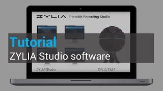 ZYLIA Studio software tutorial