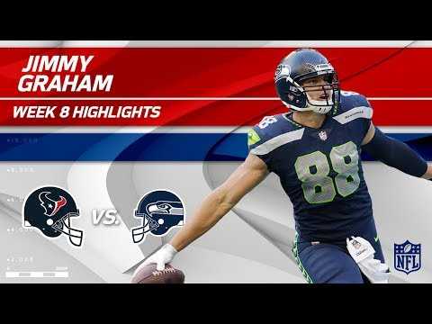 Jimmy Graham Grabs 2 TDs vs. Houston! | Texans vs. Seahawks | Wk 8 Player Highlights