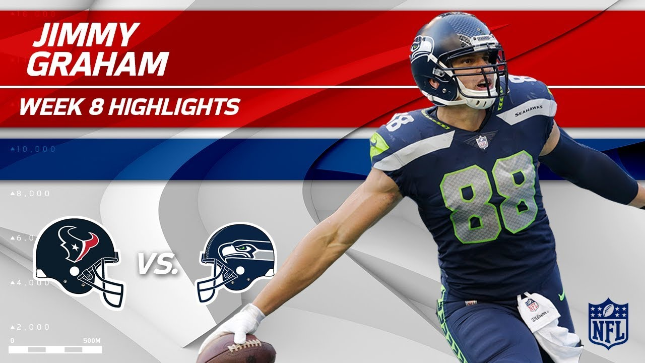 Jimmy Graham Grabs 2 TDs vs Houston Texans vs Seahawks