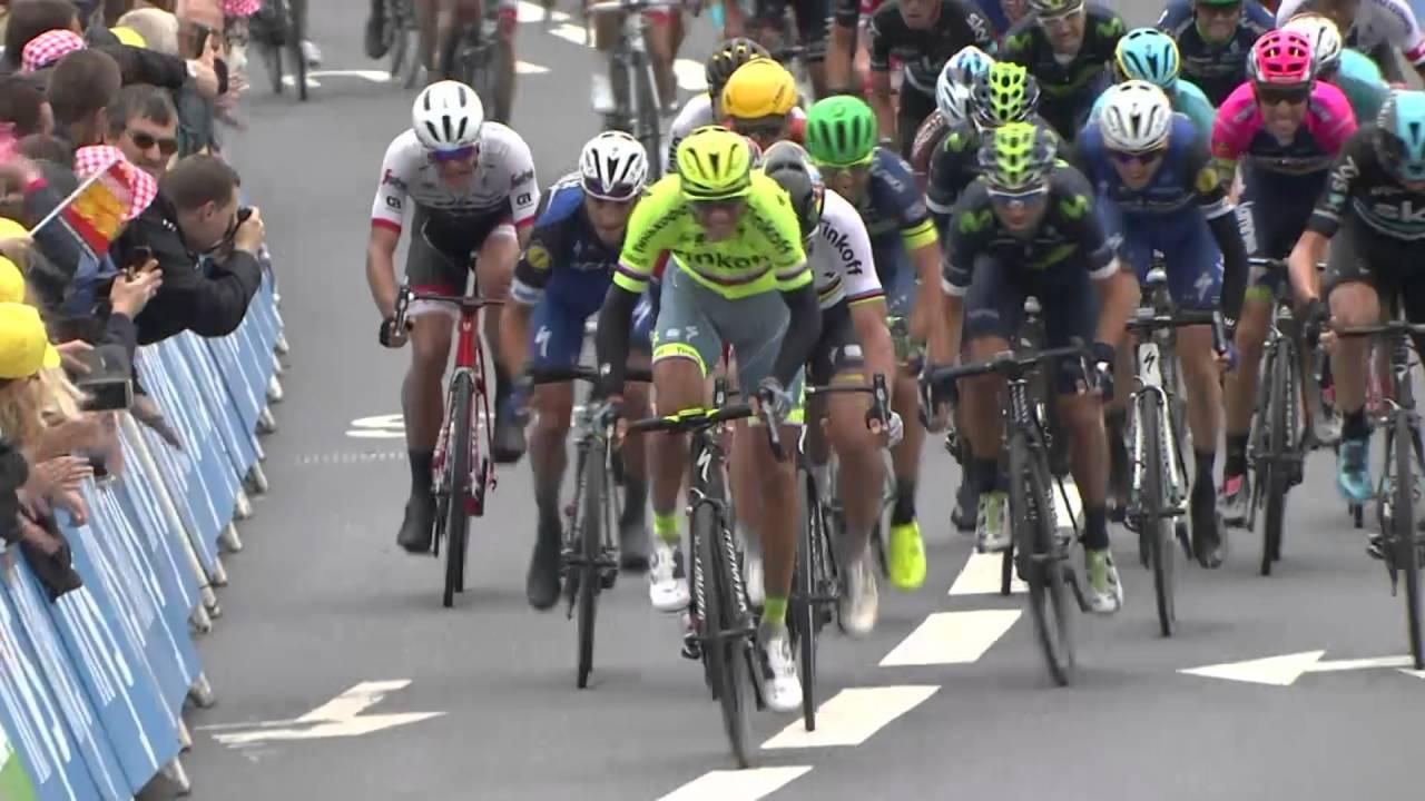 Summary Stage 2 Saint Lo Cherbourg En Cotentin Tour De France 2016 Youtube