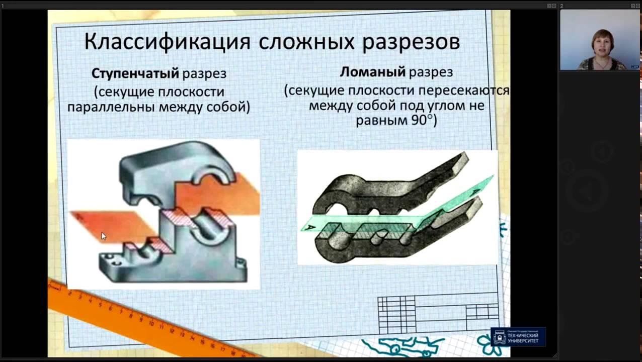 Лекция 3. Разрезы  | Инженерная графика | ОмГТУ | Лекториум