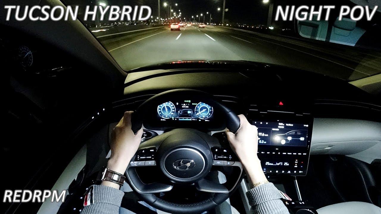 현대 투싼 하이브리드 1인칭 POV 야간 주행, Hyundai Tucson Hybrid POV Night Drive
