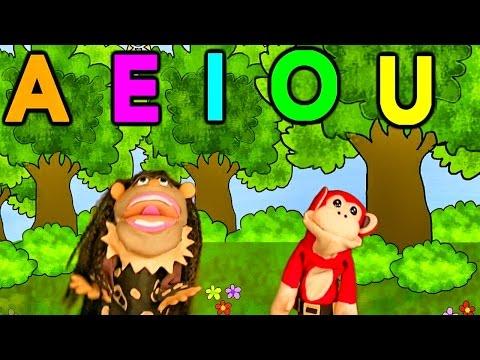 La Canción de las Vocales | A E I O U | El Mono Sílabo | Educación Infantil | Lunacreciente