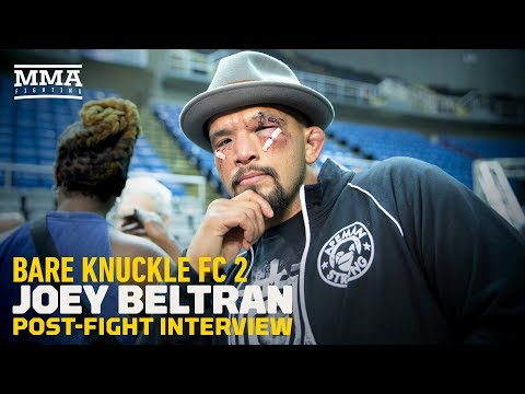 Bare Knuckle FC 2: Joey Beltran Says Most Fighters 'Aren't Crazy Enough' to Fight Bare Knuckle