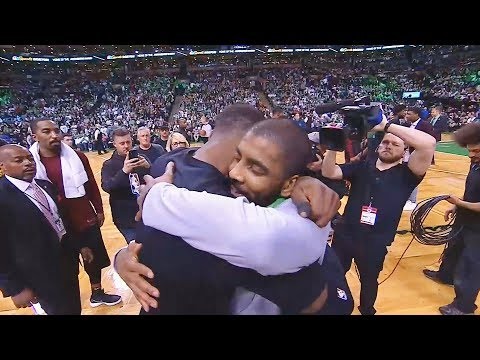 LeBron James Hugs Kyrie Irving and Both Greet Each Other  After Cavaliers Blow Out Celtics