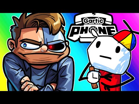 Gartic Phone Funny Moments - Terroriser Was Late, So We Tortured Him!
