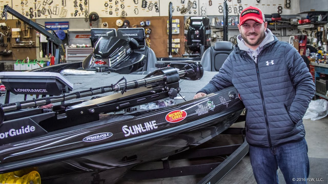Prepping a FLW Tour bass boat with Brandon Hunter