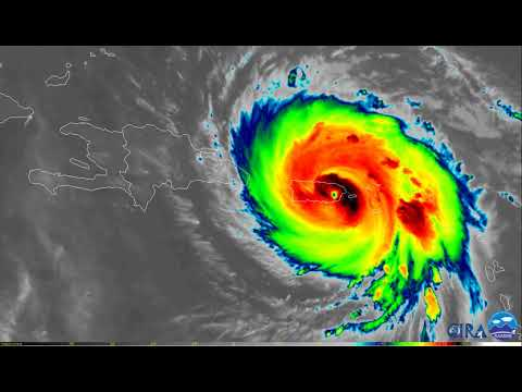 Hurricane Maria Infrared Satellite Imagery