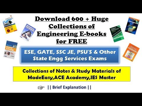 Huge Collection Of Engineering E-book   Download For FREE   GATE,IES,PSU Study Materials