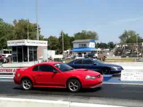 Lincoln Mark Viii Vs Mustang Youtube