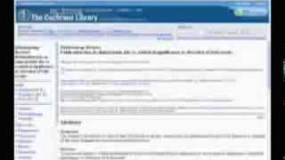 Audio summaries of selected reviews from The Cochrane Library, Issue 1, 2009
