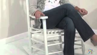 Coral Coast Slat Back Rocking Chair White - Product Review Video