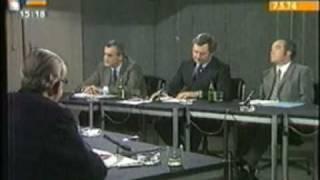 Rücktritt Willy Brandts # Wehner & Strauss 1974 4/5