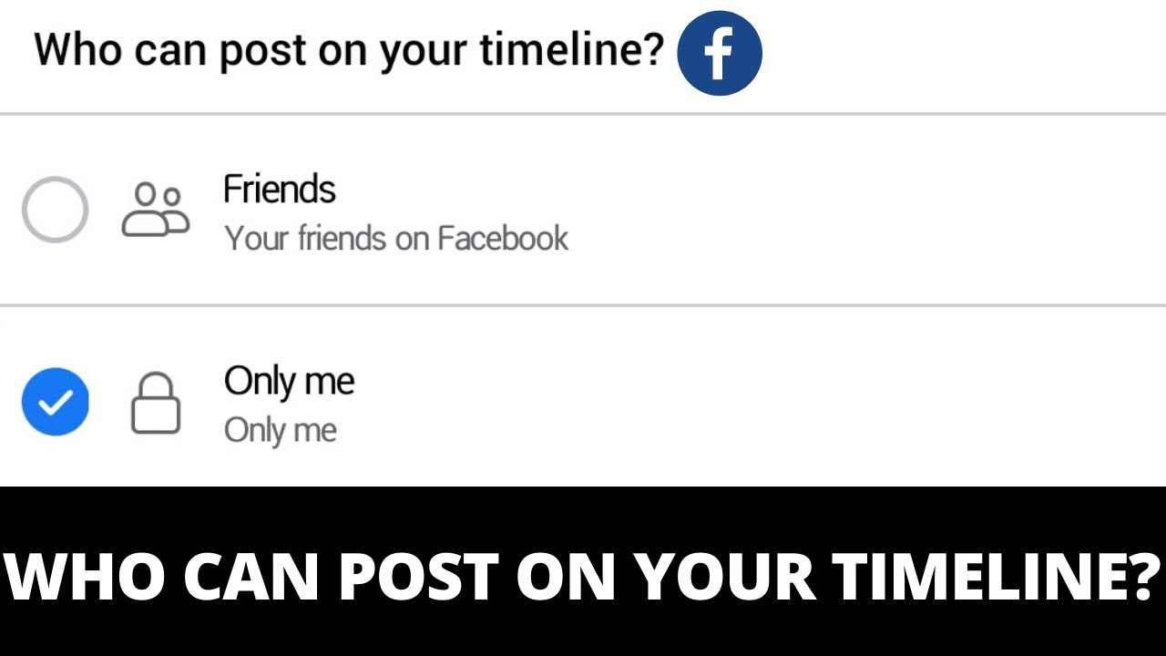 Who Can Post on Your Timeline - Facebook Timeline Settings Tips