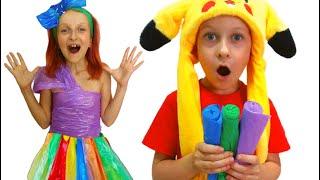 Tawaki kids make new dress for party\Pretend play
