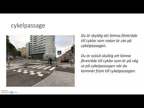 Körkort på lätt svenska: väjningsregler