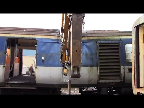 Shredding A Train For Recycling Watch As The Train Gets Cut In Half