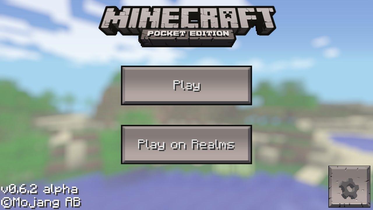 Minecraft Pocket Edition Main Menu