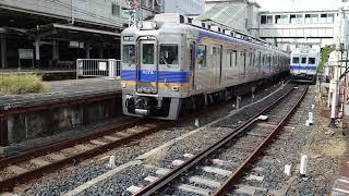 南海高野線堺東駅 6300系(6325編成)各停千代田行発車