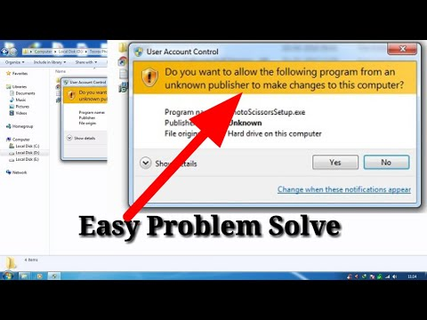 Do You Want To Allow The Following  Program… In Windows PC 10 /8/7 Problem