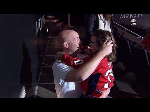 Lieutenant returns home, surprises daughter at Caps game