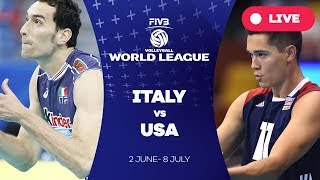 Italy v USA - Group 1: 2017 FIVB Volleyball World League