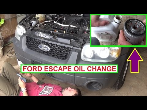 Ford Escape 2 3 Oil Change How To Change The Engine Oil On