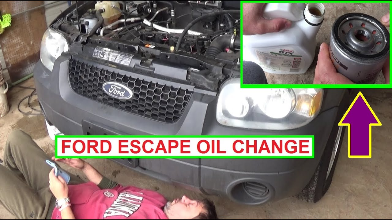 Ford Escape 2 3 Oil Change How To The Engine On