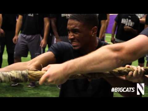 Spring Lifting with Northwestern Football