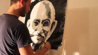 Learn How to Paint Abstract and portrait Painting with Acrylics video - Vincent Bardou