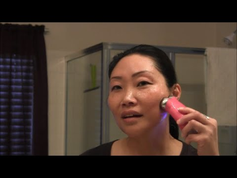My quickie NuFace Trinity microcurrent treatment - neck and cheeks