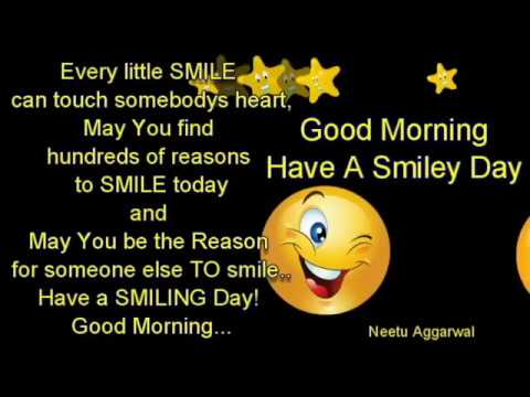 Good Morning Wishes With Beautiful Smile Have A Smiley Day Youtube
