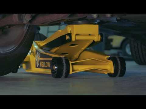 Yellow Jacket Low-Profile Super-Duty Jack  3-Ton Lift Capacity 4in.23in. Lift Range