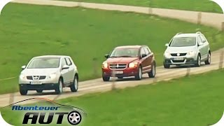 Crossover: VW Cross Golf vs Dodge Caliber vs Nissan Qashqai: -Test - Abenteuer Auto