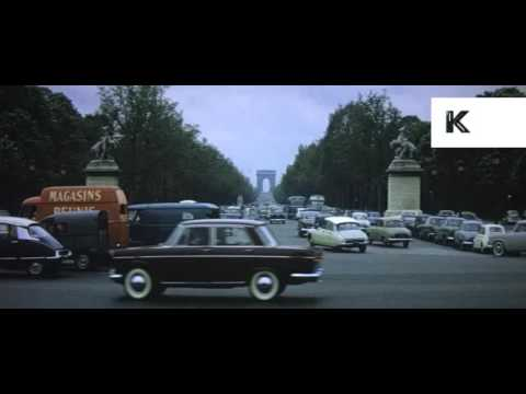 1960s Paris and Versailles, France, 16mm Colour Anamorphic Home Movies