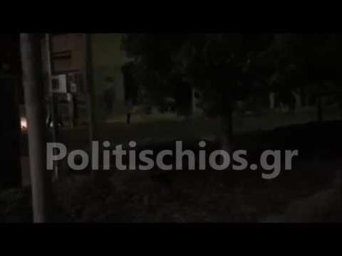 Χίος:Μετανάστες διέλυσαν καταστήματα-έριξαν βεγγαλικά σε σπίτια - Ήταν εξοπλισμένοι με taser (ΒΙΝΤΕΟ)
