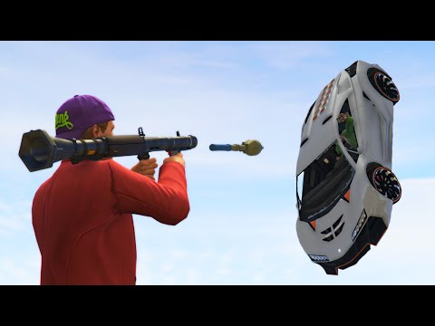 PLATFORM ROCKET DEFENSE! (GTA 5 Funny Moments)