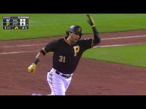 MIL@PIT: Morse launches pinch-hit grand slam