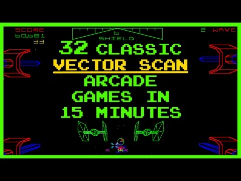 Classic Vector Scan Arcade Games Compilation