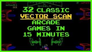 Video Classic Vector Scan Arcade Games Compilation download MP3, 3GP, MP4, WEBM, AVI, FLV Juni 2018