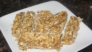Dates, Nuts, And Oatmeal Healthy Bar / Recipe#9