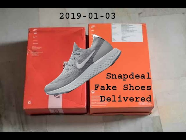 Snapdeal Nike Epic React Flyknit Fake Or Original Youtube