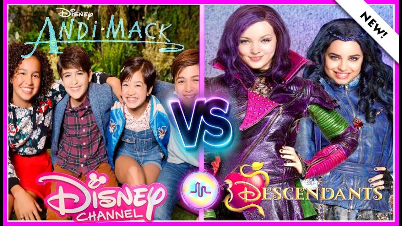 Andi Mack VS Decendants 2 Musical.ly Battle   Famous Disney Stars New Musically
