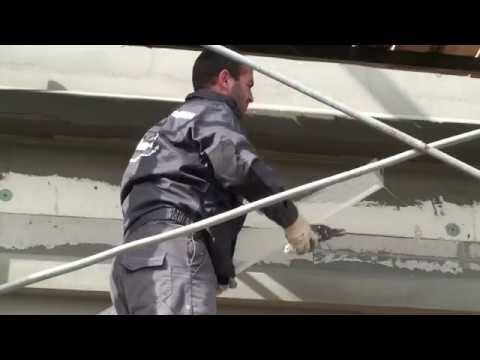 Профиль капельник ПВХ с армирующей сеткой - YouTube