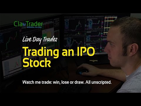 Live Day Trades - Trading an IPO Stock