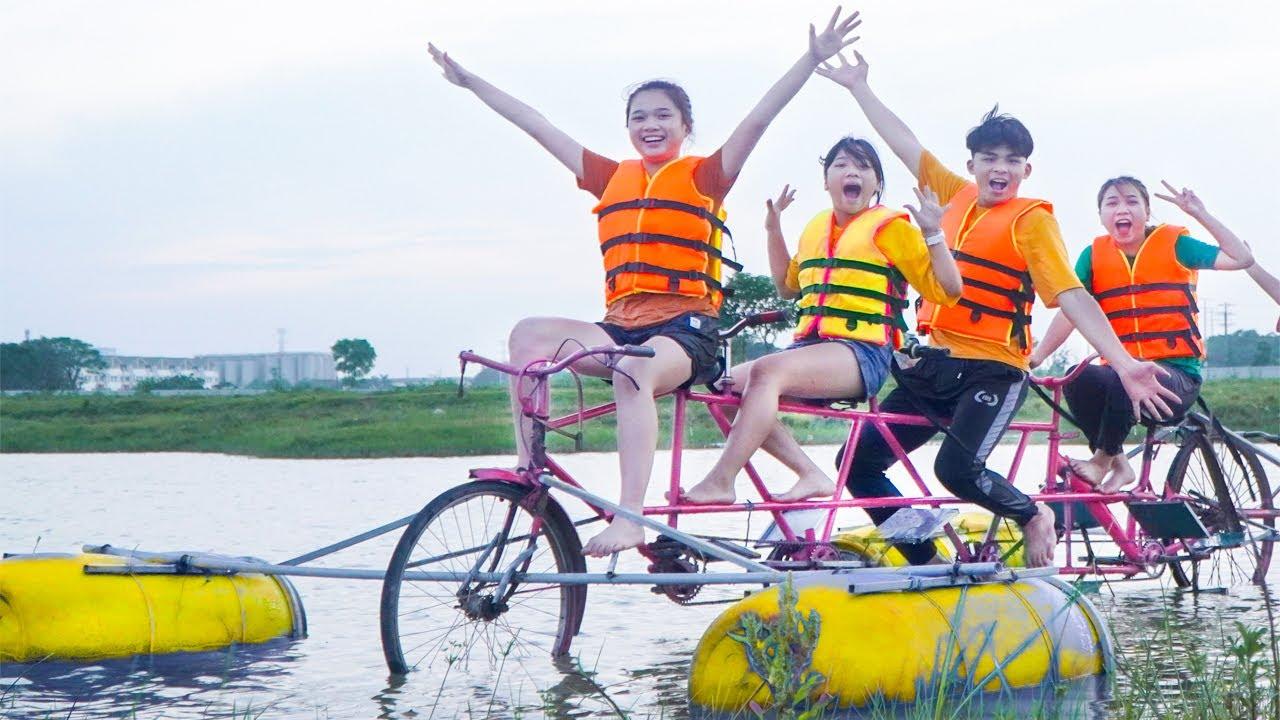 Kỳ Diệu Xe Đạp Đi Trên Nước ❤ Chiếc Xe Đạp Du Thuyền Siêu Dài ❤ Trang Vlog