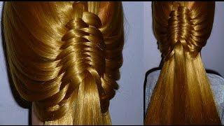 ЛЕГКО, БЫСТРО.Причёска для средних, длинных волос.Плетение кос/волос. Причёски для детей в школу