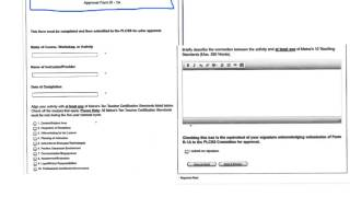 Form R-1A- Learning and Prior Approval  Form Tutorial