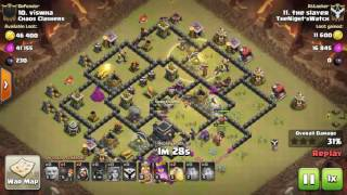 Clash of Clans COC TH 8.5 TH9 GoVaHo Low Heroes 3 Star War Strategy June 27 2016 Slayer